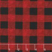 Hearthside Holiday - Buffalo Plaid Red Black Yardage
