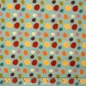 Giraffe Crossing 2 - Dots Teal Yardage