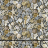 The Great Outdoors - Pebbles Gray Flannel Yardage