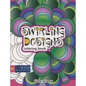 Swirling Designs Coloring Book by Geta Grama