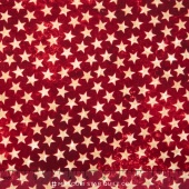 Stonehenge Stars and Stripes - Red Stars Yardage