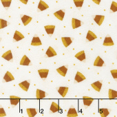 Happy Jacks & Friends - Candy Corn Cream Flannel Yardage