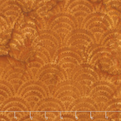 Clockworks Batiks - Ogee Spikes Copper Yardage