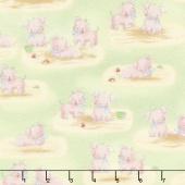 Cotton Tale Farm - Pigs Green Flannel Yardage