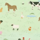 What do the Animals Say? - Animals Green Yardage