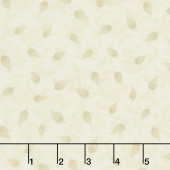 Gardenside Path - Leaves Ivory Yardage