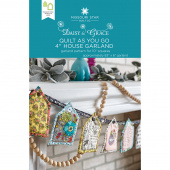 """Quilt As You Go 4"""" House Garland Pattern by Missouri Star"""
