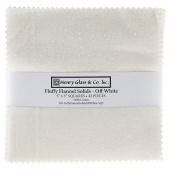 Fluffy Solids Off White Flannel Charm Pack
