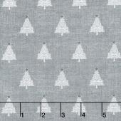 Scandi 4 - Trees Silver Yardage