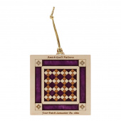 Quilt Ornament - Purple Four Patch
