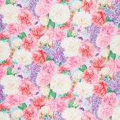 Love Letters - Lilacs & Peonies Multi Yardage
