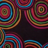 "The Kaffe Fassett Collective - Circles Black 108"" Wide Backing"