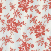 Northport Prints - Cottage Curtains Blue Red Yardage