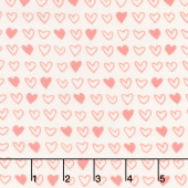 Soft & Sweet - Pink I Heart U Cream Flannel Yardage
