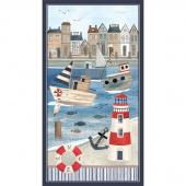 Harbor Days - Lighthouse Panel