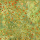 Artisan Batiks - Cornucopia 9 Branches Leaves Grass Yardage