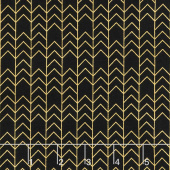 A Little Bit of Sparkle - Arrow Black Metallic Yardage