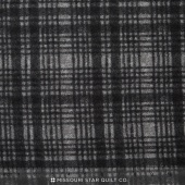 Woolies II Flannel - Windowpane Black Yardage