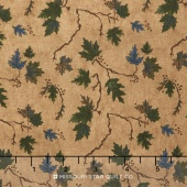 River Journey - Summer Leaves Buckskin Yardage