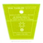 "Mini Tumbler Template for 2.5"" Mini Charm Pack"