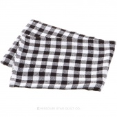 Tea Towel - Gingham Black/White