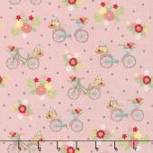 Vintage Adventure - Bicycle Pink Yardage