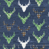 The Great Outdoors - Outdoors Dear Navy Yardage