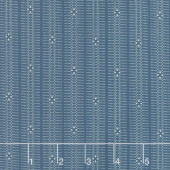Mood in Blue - Indigo Stripe Blue Yardage