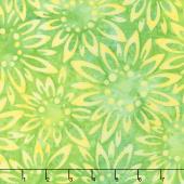 Artisan Batiks - Sunny Day Sunflowers Green Yardage
