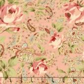 Roses & Chocolate ll - Roses & Paisleys Rose Yardage