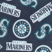 MLB Fleece - Seattle Mariners Blue Yardage