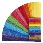 "Tonga Treats Batiks - Dazzle 2.5"" Strips"