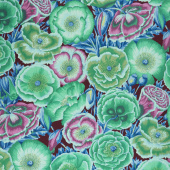 Kaffe Fassett Collective Spring 2018 - Dark Poppy Garden Green Yardage