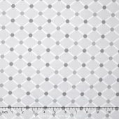 Cozy Cotton Flannels - Diamond Light Grey Yardage