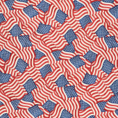 America, My Home - Packed Flags Multi Yardage