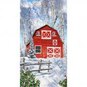 Winter Barn - Red Barn Multi Panel