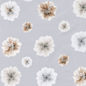 Essence of Pearl - Neutral Floating Blossoms Dove Yardage