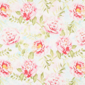 Wild Blush - Peonies Pink Yardage