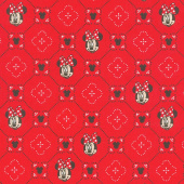 Disney - Minnie Traditional Smiles Red Yardage