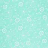 """Kimberbell - Doodles Teal 108"""" Wide Backing"""