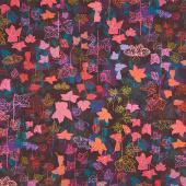 Loose Leaf - Leaves Nightfall Digitally Printed Yardage