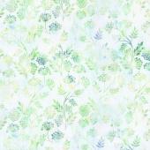 Floragraphix V - Sprigs Green Yardage