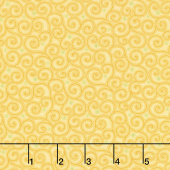 Home Grown - Swirl Yellow Yardage
