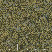 "Morris Holiday 1897 - Thistle Ebony 108"" Wide Metallic Backing"