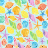 Octopus Garden - Shells Summer Digitally Printed Yardage