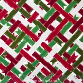 Suite Christmas - Ribbon Wrap Peppermint Metallic Yardage
