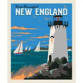 Destinations - New England Poster Multi Digitally Printed Panel