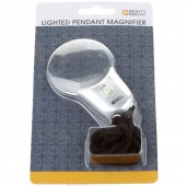 Might Bright Lighted Pendant Magnifier - Silver
