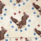 Stonehenge Stars and Stripes V - Eagle Beige Yardage