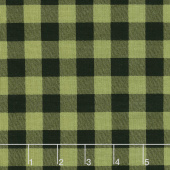 Overnight Delivery - Buffalo Plaid Green Black Yardage